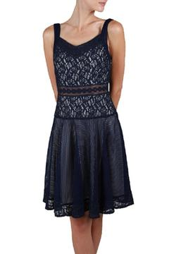 Shoptiques Product: Navy Mesh Dress