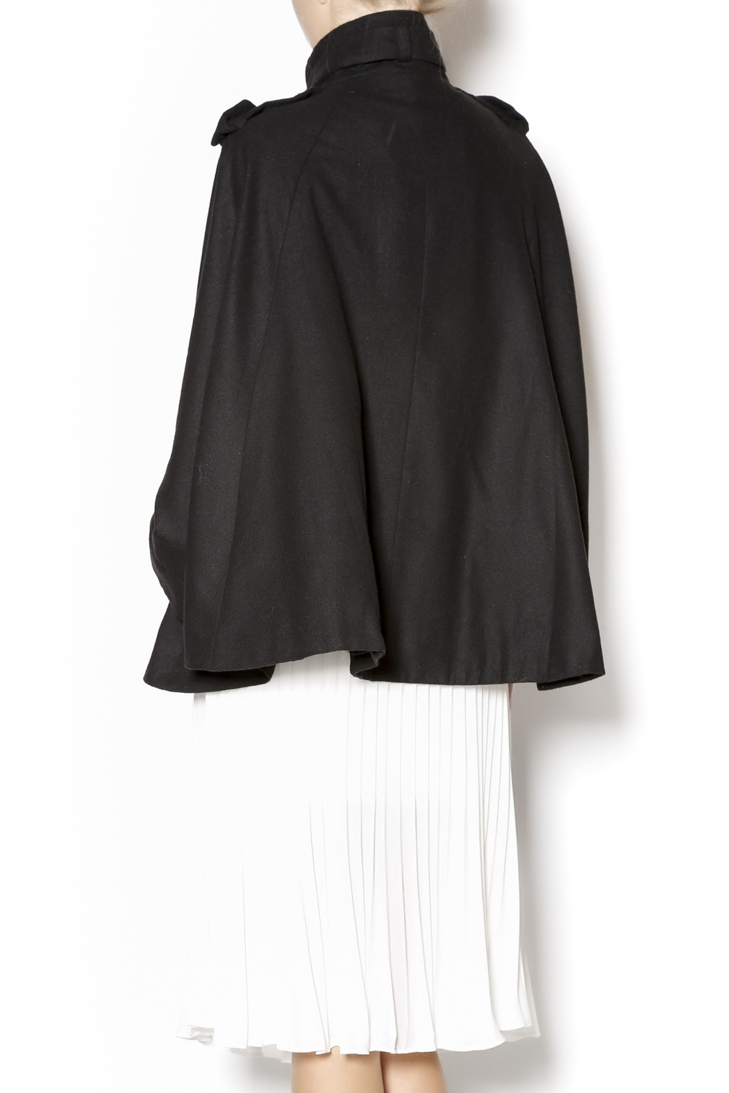 Cecico Military Style Cape - Back Cropped Image