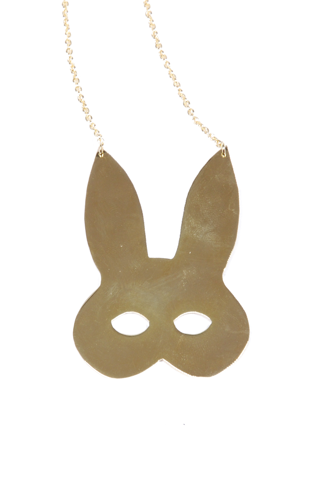 f_licie aussi Gold-Plated Rabbit Mask Necklace - Front Full Image
