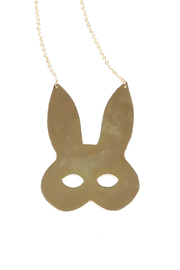 f_licie aussi Gold-Plated Rabbit Mask Necklace - Front full body