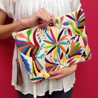 Shoptiques Product: Otomi Embroidered Clutch