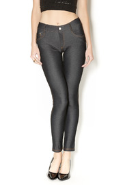 Yelete Black Jean Jeggings - Product Mini Image