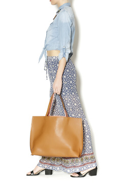 Shoptiques Product: Tan/Coral Reversible Tote