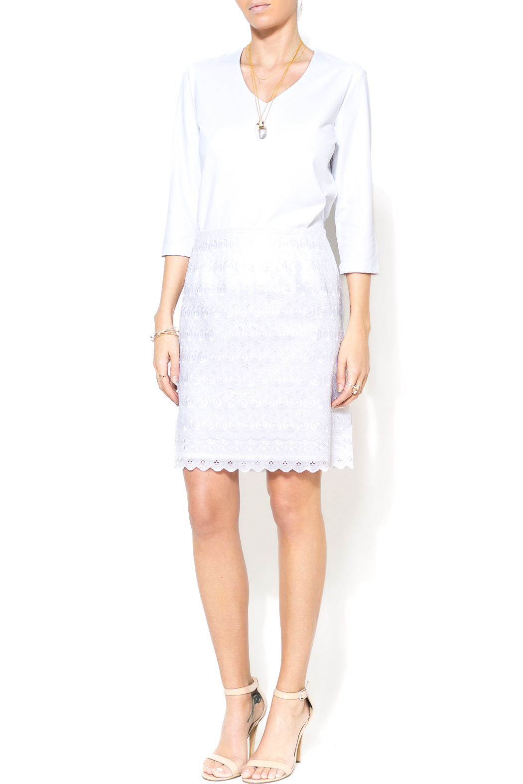 Everyday Lace White Skirt
