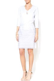 Shoptiques Product: Everyday Lace White Skirt - Front full body