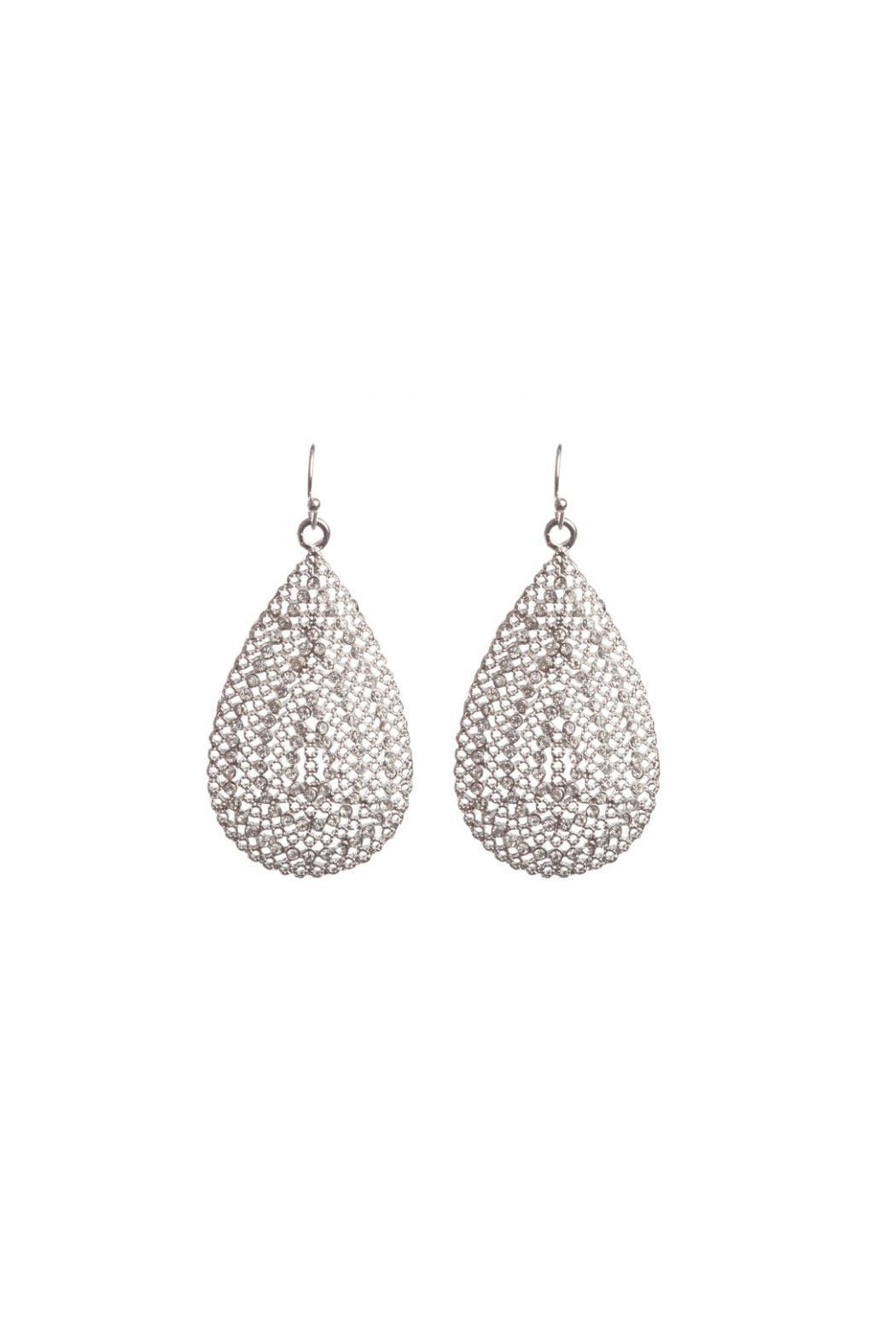 KTCollection Bejeweled Teardrop Silver - Main Image