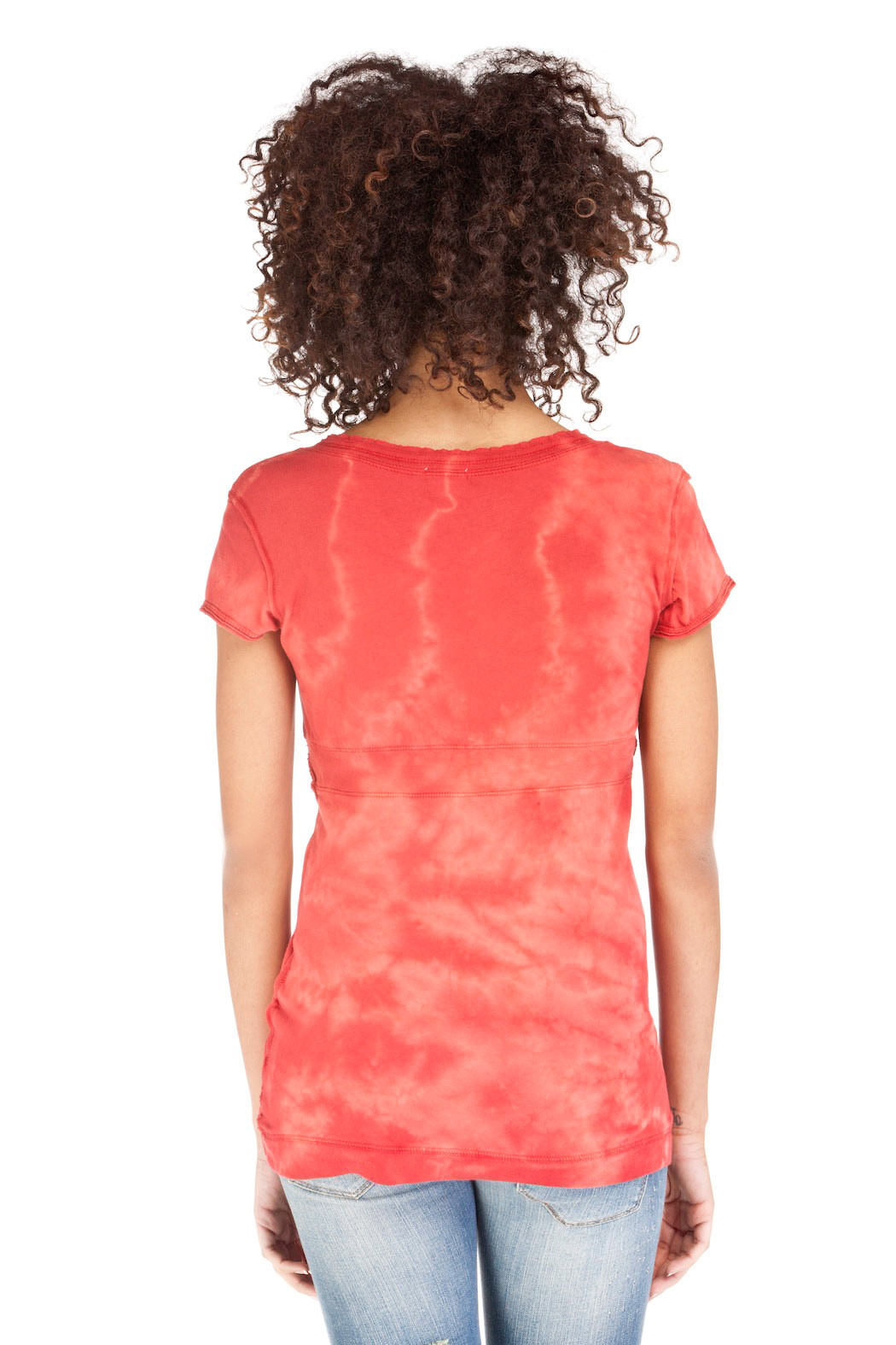 Maurices Rust Orange Cotton Top - Back Cropped Image