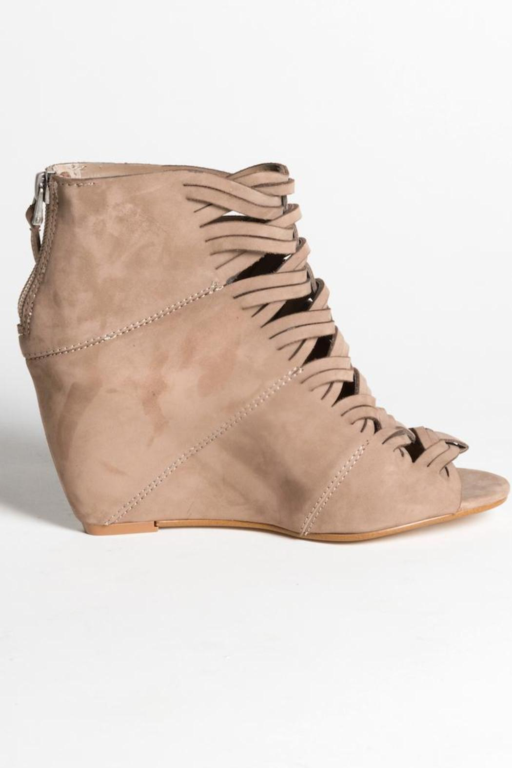 Dolce Vita Tan Suede Wedge - Side Cropped Image