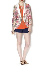 Gentle Fawn Floral Print Blazer - Front full body