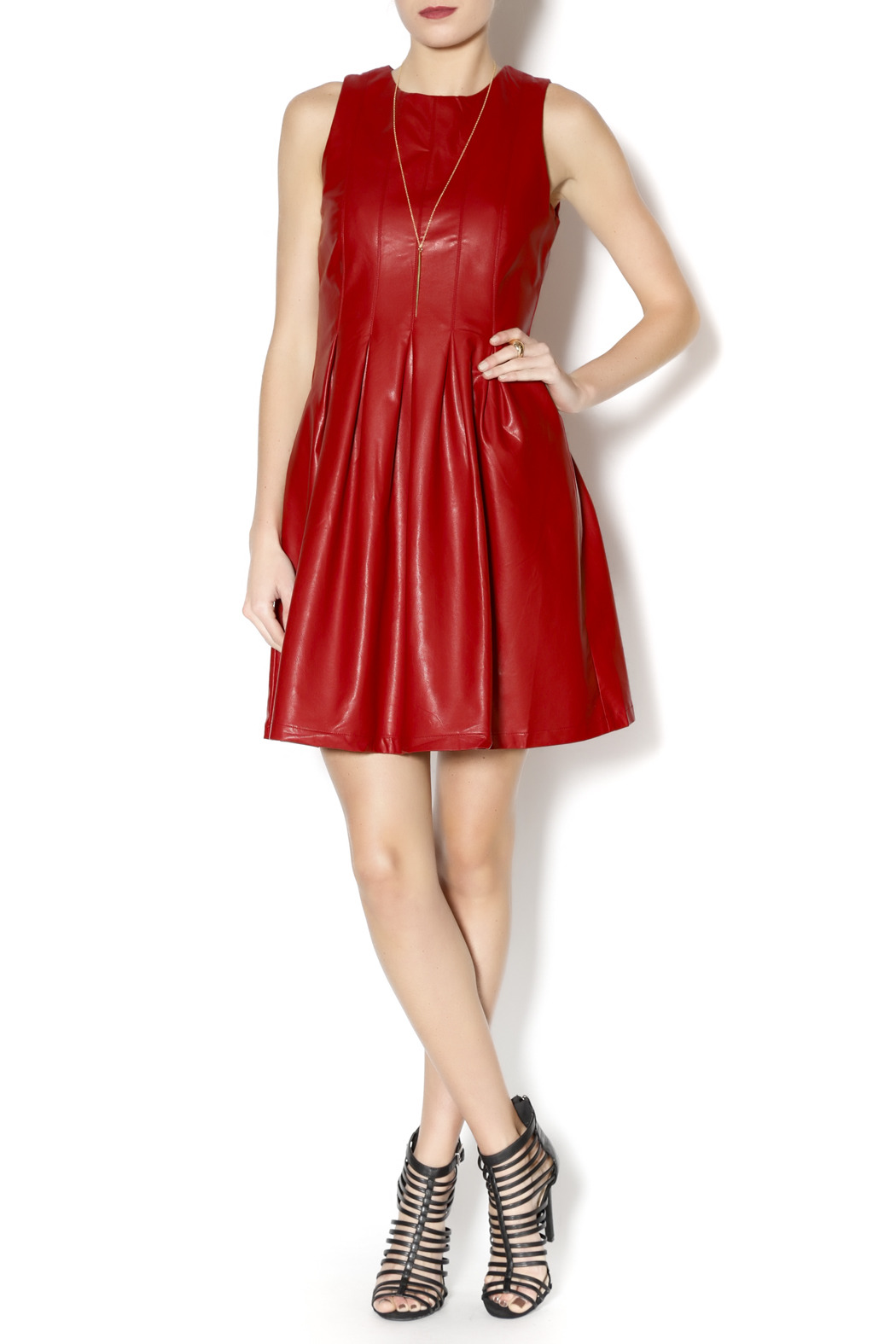 e87b93bee6c Lucy Paris Red Pleather Dress from Chicago by Blush Boutique ...