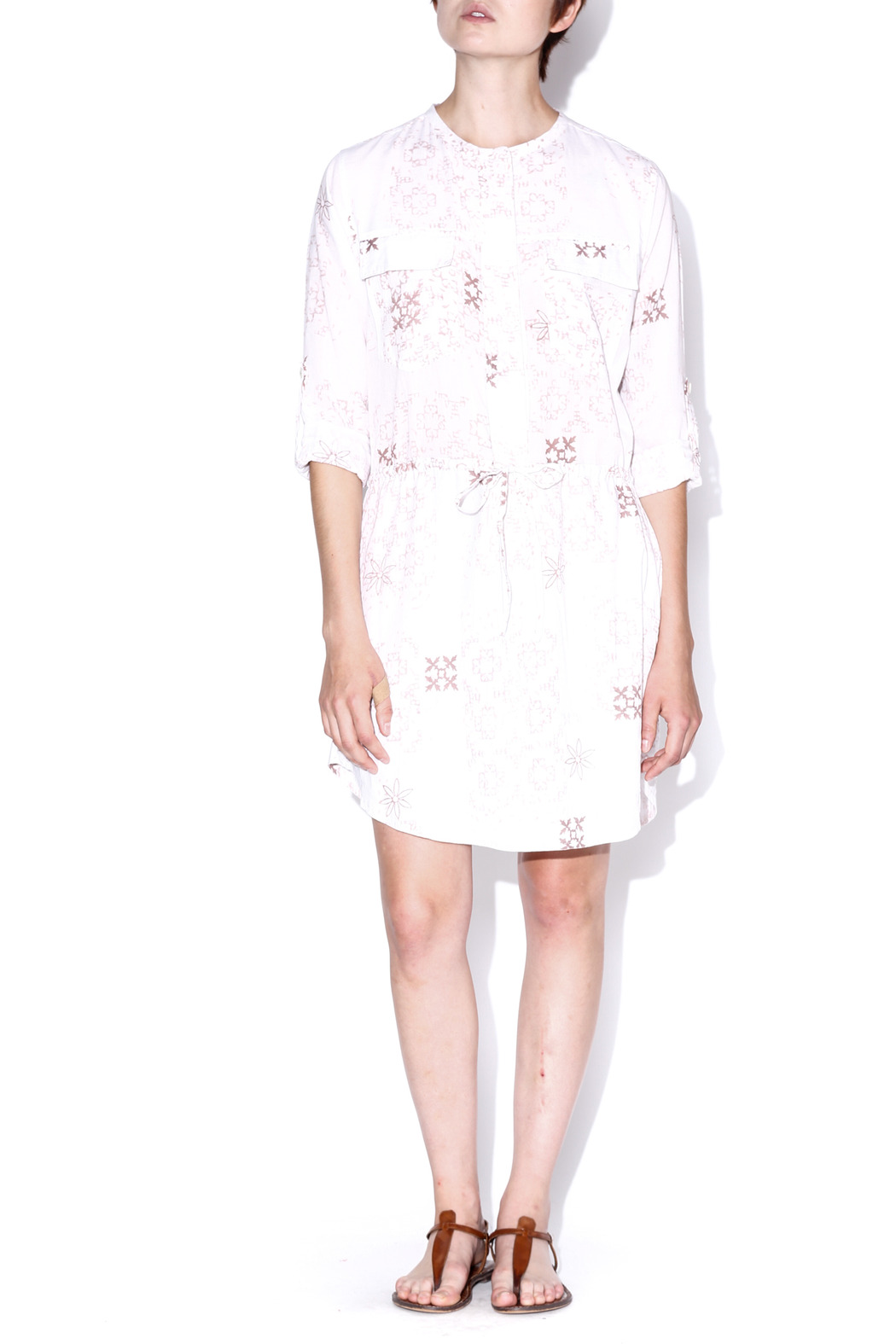 Kerry Cassill Boxer Multi Shirt Dress - Front Cropped Image