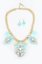 Bling Bling Sisters Turquoise Statement Necklace - Product Mini Image