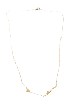 Green I Love You Necklace - Product List Image