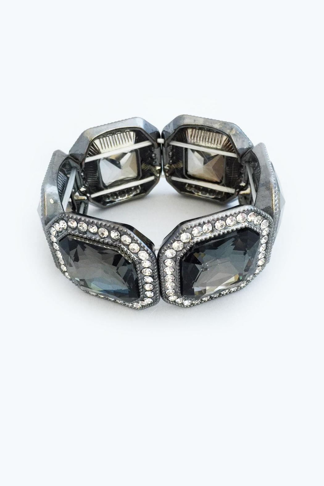 Bling Bling Sisters Smoky Grey Bracelet - Front Cropped Image