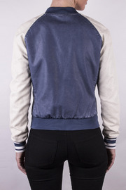 Members Only Washed Varsity Jacket - Back cropped