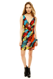 Shoptiques Product: V-Neck Print Dress - Front full body