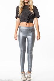 Umgee USA Faux Leather Leggings - Front cropped