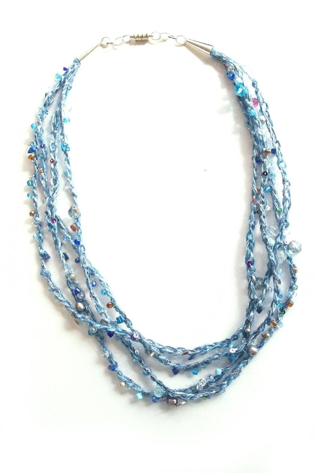 Naomi Ellenberg-Dukas Crocheted Necklace W/beads - Front Cropped Image