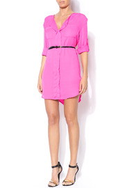 Shoptiques Product: Loose Belted Shirt Dress - Front full body
