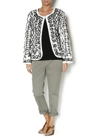 Keren Hart Black White Cardigan - Front full body