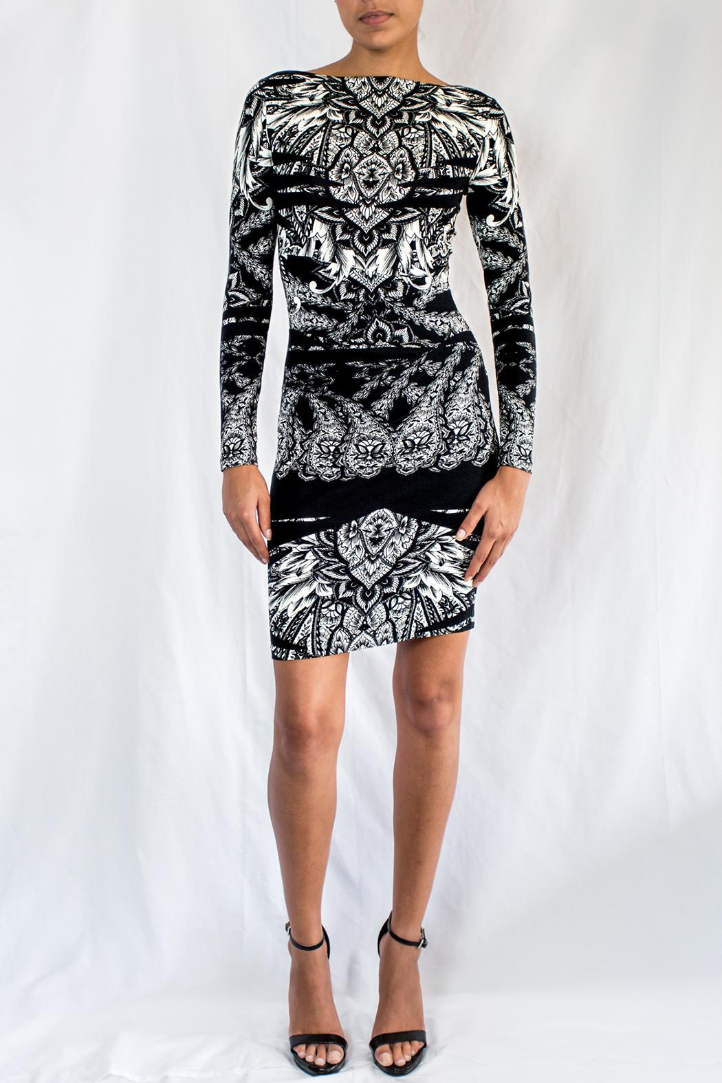 Nicole Miller Printed Jersey Dress - Front Full Image