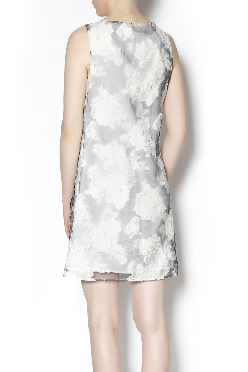 Lucy & Co. sleeveless white dress - Back Cropped Image