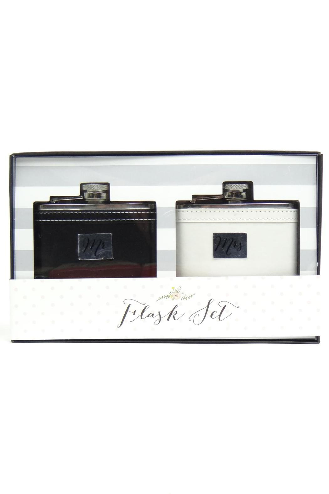 C R Gibson True-Love Flask Set - Front Cropped Image