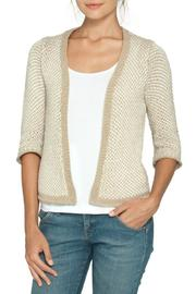 Wooden Ships Tan/cream Cotton Cardigan - Front cropped