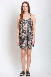 No Rest for Bridget Floral Chiffon Dress - Front full body