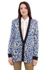 Shoptiques Product: Printed Cardigan With Spikes
