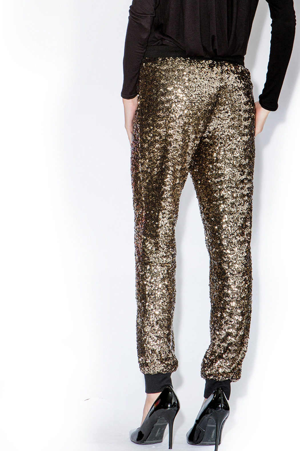 Ark Amp Co Gold Sequin Jogger Pants From Louisiana By