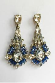 Classic Remix Blue Chandelier Earrings - Front cropped