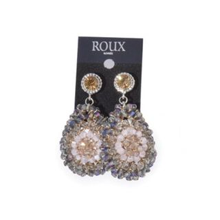 Shoptiques Amethyst Crochet Earrings