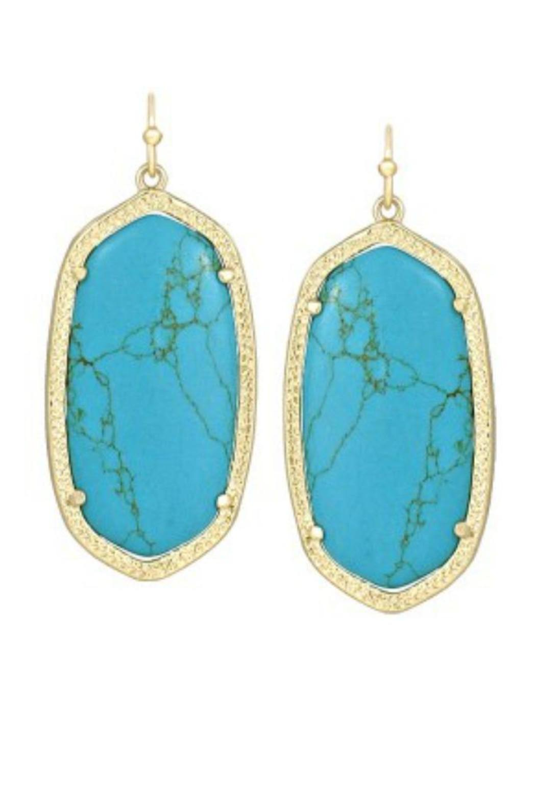 Kendra Scott Turquoise/gold Elle Earrings - Main Image