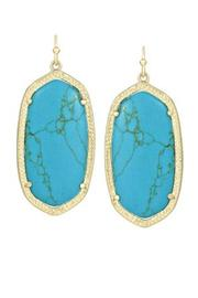 Kendra Scott Turquoise/gold Elle Earrings - Front cropped