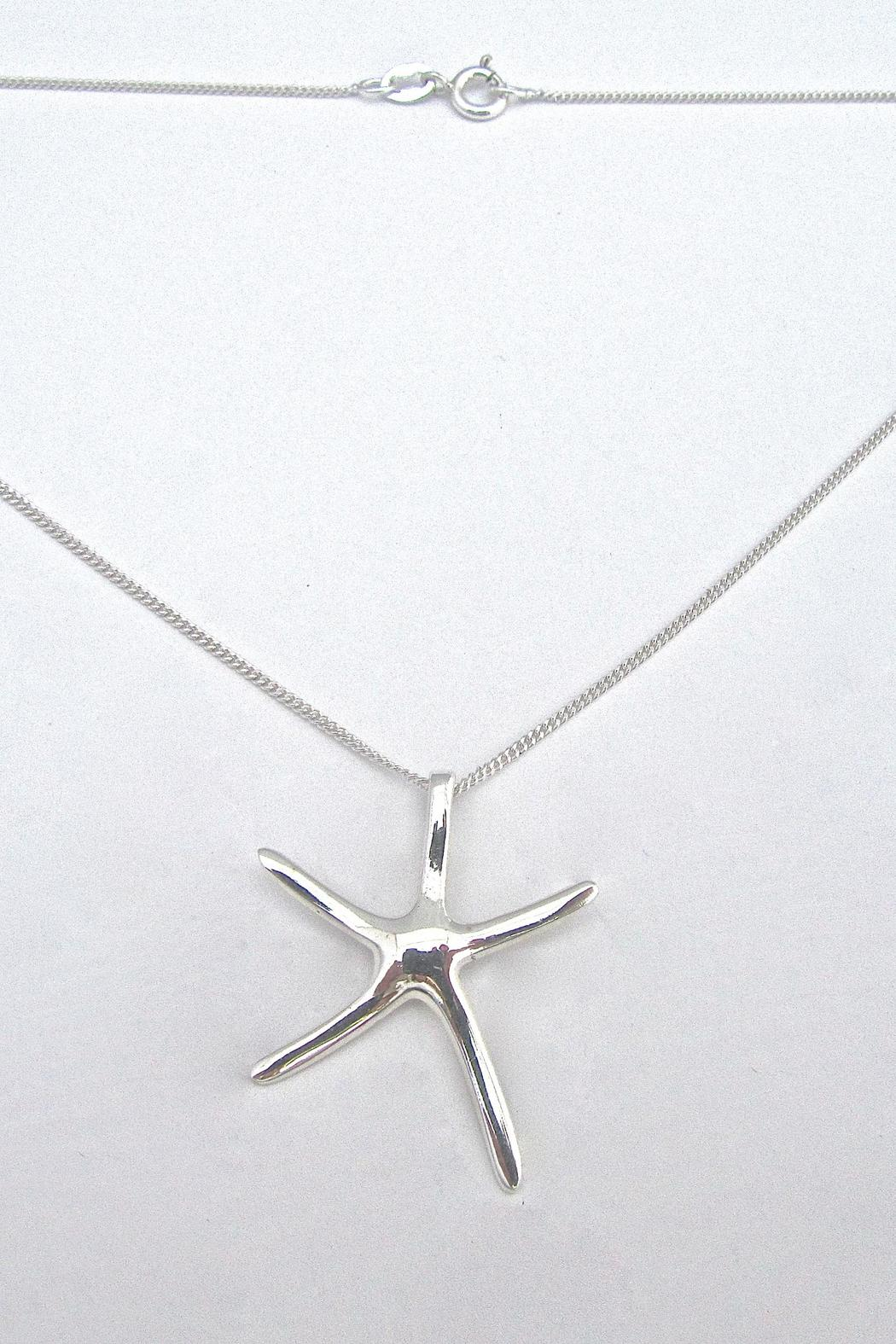 Painted Daisies Dancing Starfish Necklace - Side Cropped Image