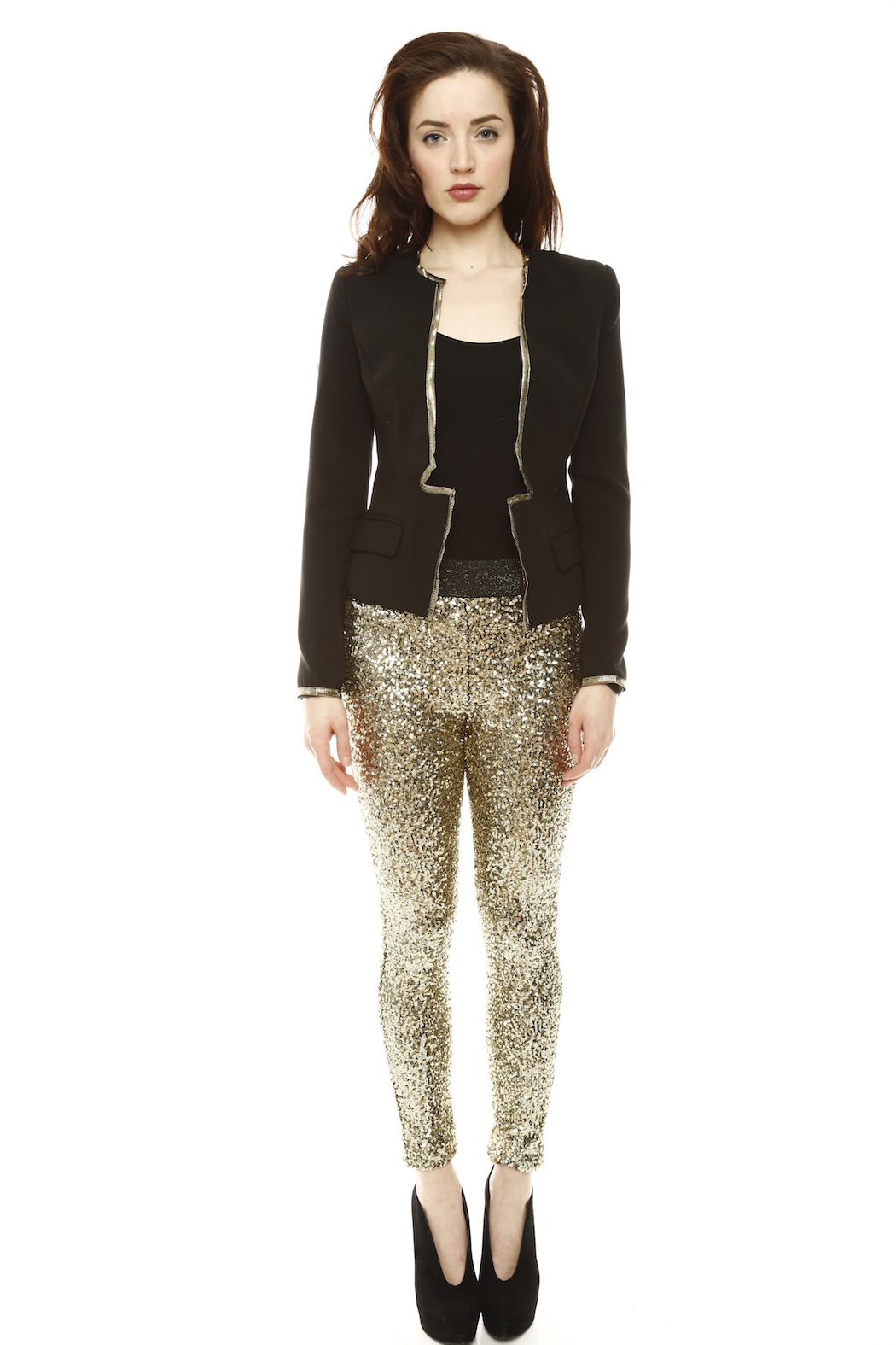 Do & Be Sequin Leggings - Front Full Image
