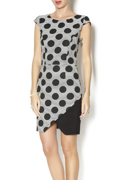 Biscuit Polk Dot Wrap Dress - Product List Image
