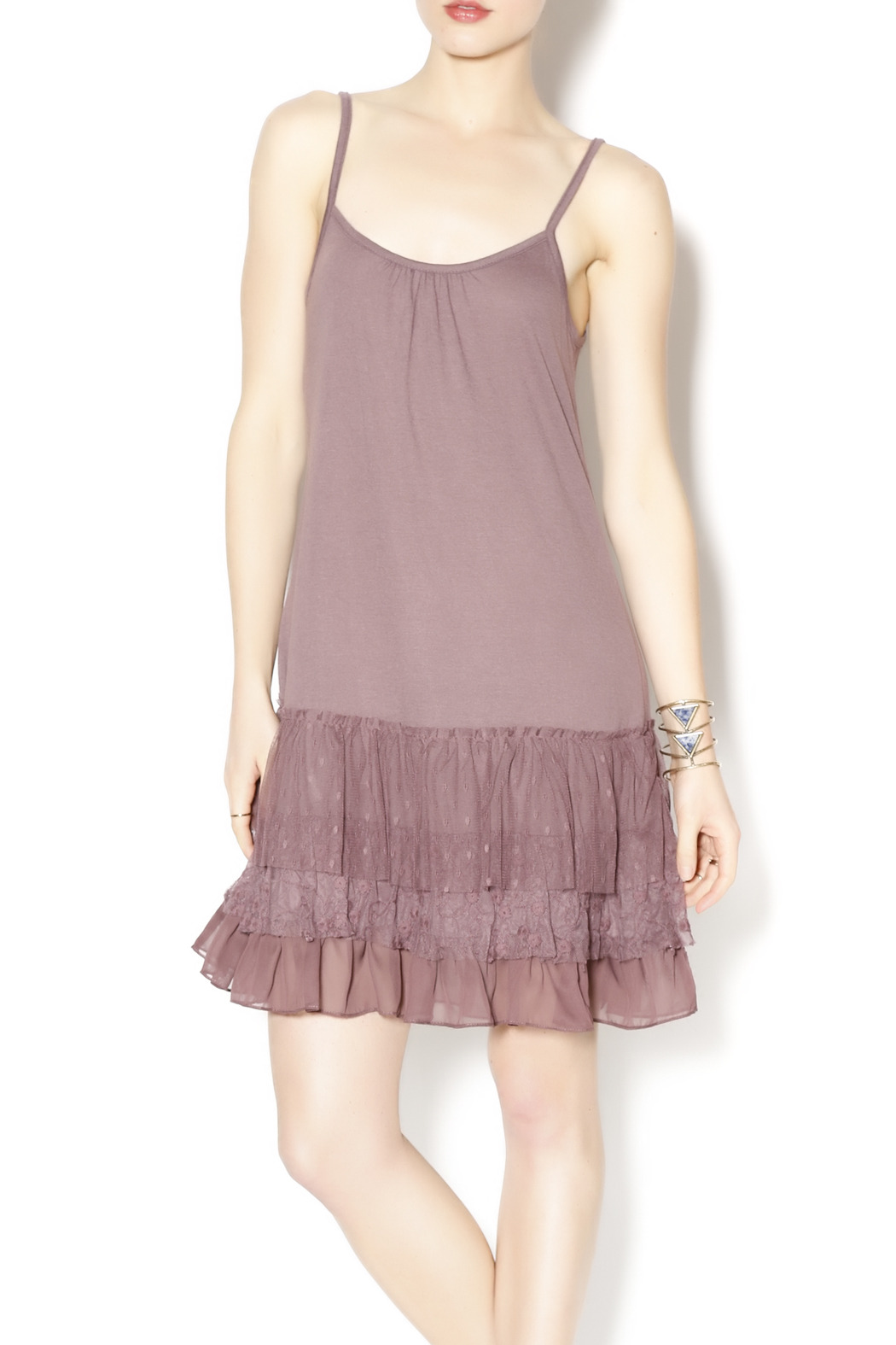 A'reve Layered Ruffle Dress - Front Cropped Image