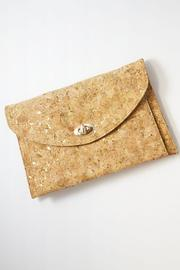 Street Level Gold Cork Clutch - Front cropped