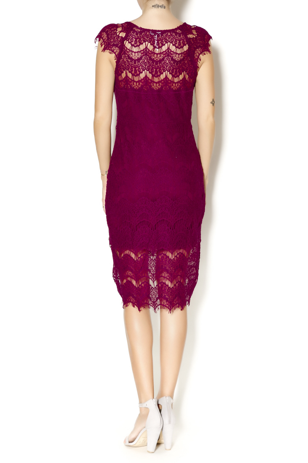 Parts & Labour Cranberry Lace Dress from Oregon by Parts   Labour ...