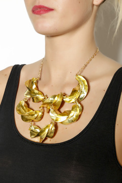 Zia Fulani Gold Statement Necklace - Alternate List Image
