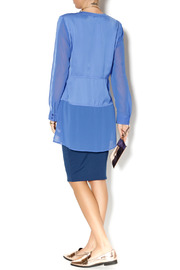 Shoptiques Product: Cobalt Blue Tunic - Side cropped