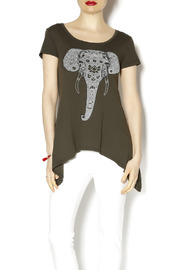 Soul Flower Painted Elephant Top - Product Mini Image