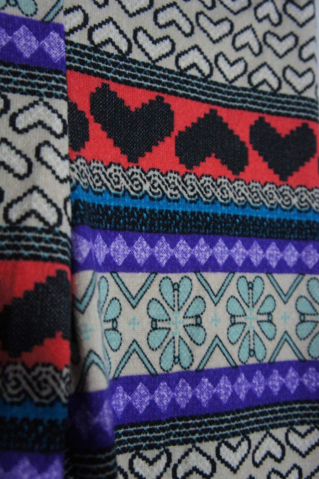 B_Envied Multicolored Sweater Leggings - Front Full Image