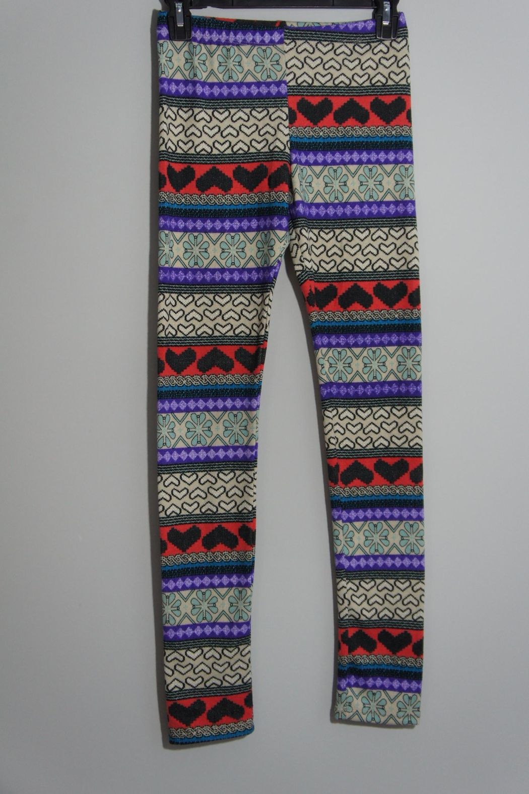 B_Envied Multicolored Sweater Leggings - Front Cropped Image