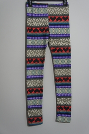 B_Envied Multicolored Sweater Leggings - Front cropped