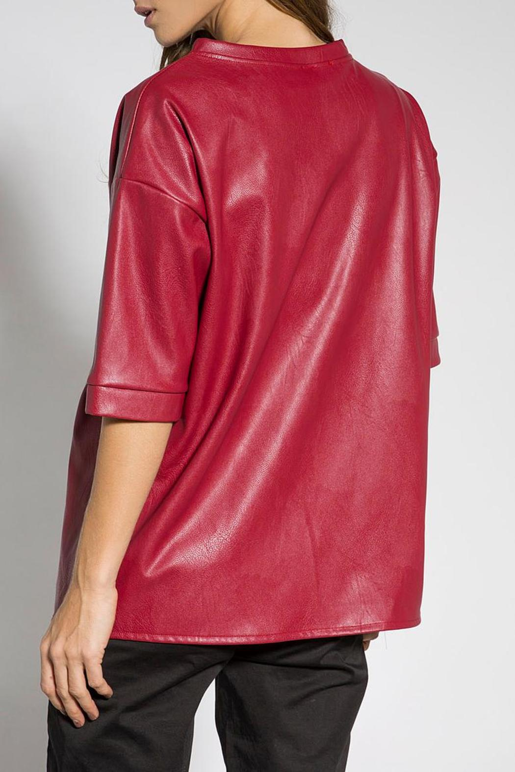5c3f76acaf9c01 B mine Faux Leather Blouse from Tel Aviv by Bmine — Shoptiques