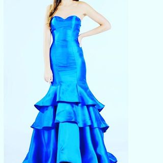 Shoptiques Blue Mermaid Gown