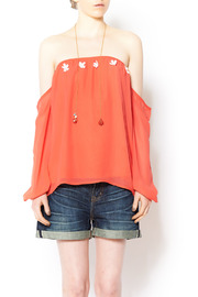 Shoptiques Product: Coral Off-Shoulders Top